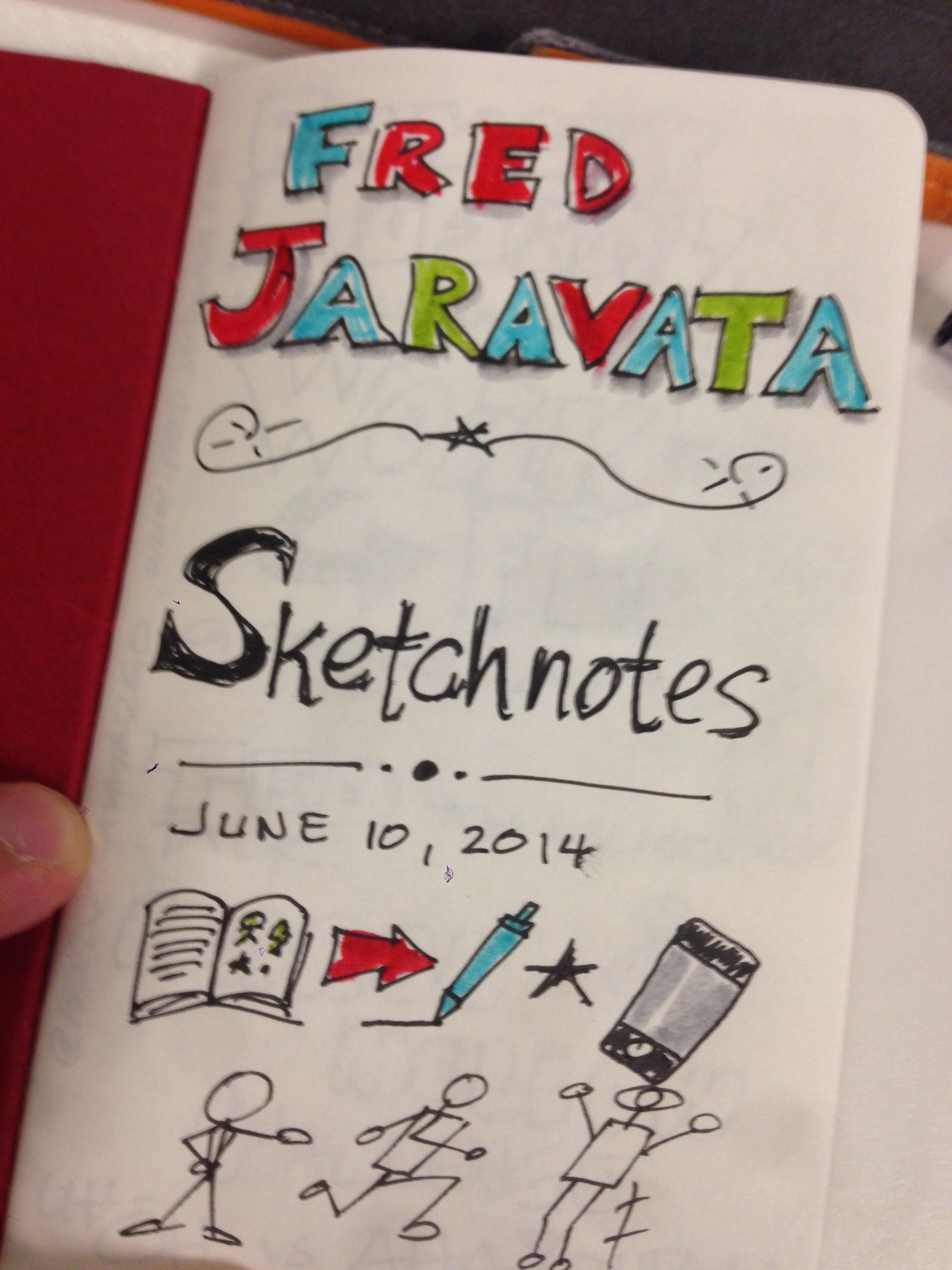 Fred Jaravata Sketchnotes